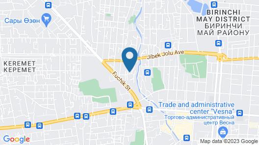Art Hotel Bishkek Map