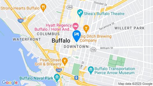 Hilton Garden Inn Buffalo Downtown Map
