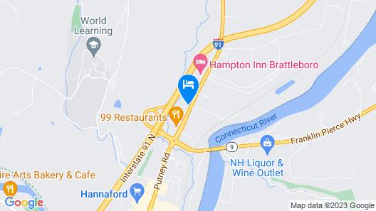 Motel 6 Brattleboro, VT Map