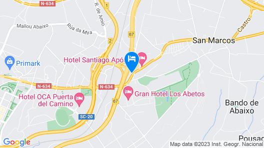 Hotel Santiago Apostol Map