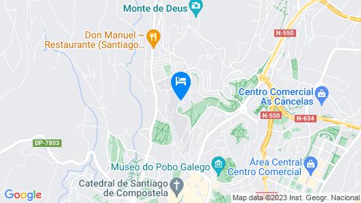 NH Collection Santiago de Compostela Map