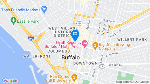 Embassy Suites Buffalo Map