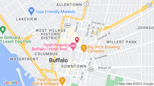 Holiday Inn Express & Suites Buffalo Downtown - Medical CTR Map