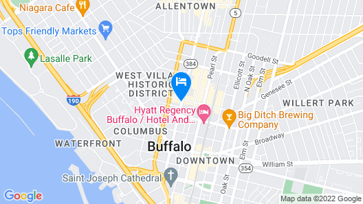 Hampton Inn & Suites Buffalo Downtown Map