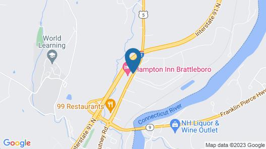 Hampton Inn Brattleboro Map