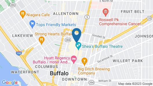 Aloft Buffalo Downtown Map