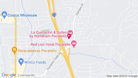 Clarion Inn Pocatello Map