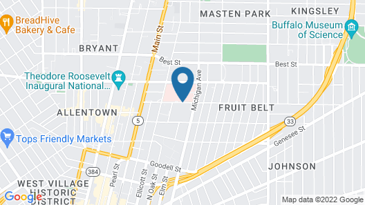 Wyndham Garden Buffalo Downtown Map