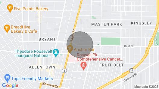 Cozy, Homey 1br Near Buffalo Medical Center Map