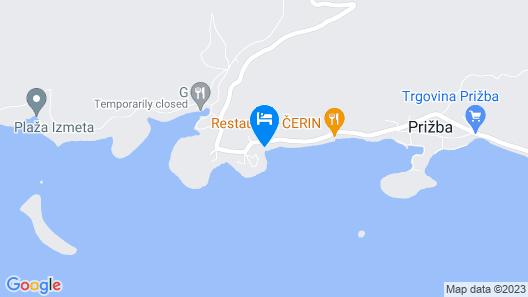 Apartment Desa A2-veliki - Prizba, Island Korcula, Croatia Map