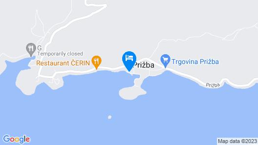 Apartment Petar - Prizba Map
