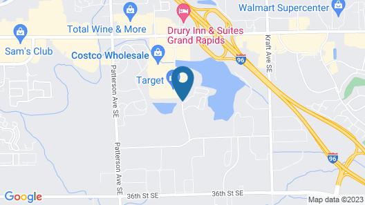 Hampton Inn & Suites Grand Rapids-Airport 28th St Map