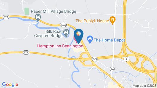 Hampton Inn Bennington Map