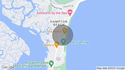 Cute, Dog-friendly Condo w/ Partial AC, Wifi, & Kitchenette - Walk to the Beach Map