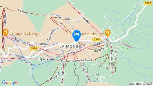 Hôtel La Mandia Map