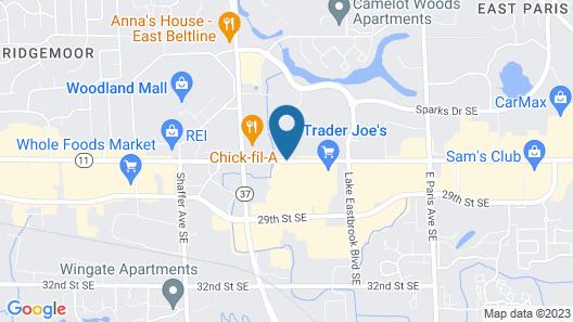 Knights Inn Grand Rapids Map