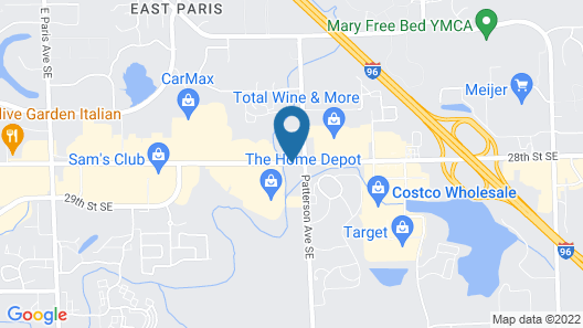 DoubleTree by Hilton Grand Rapids Airport Map