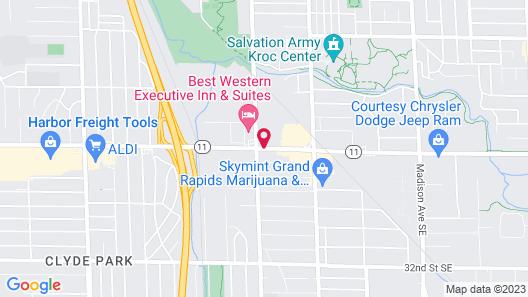 Baymont Inn & Suites Grand Rapids Near Downtown Map
