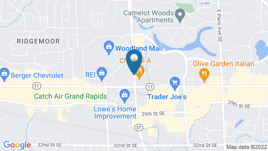 Hawthorn Suites by Wyndham Grand Rapids, MI Map
