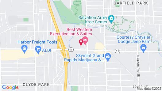 Days Inn & Suites Grand Rapids Near Downtown Map