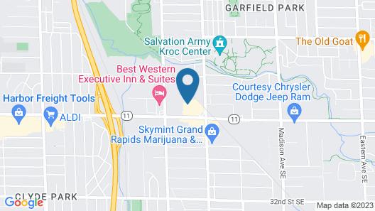 Quality Inn Grand Rapids Near Dowtown Map
