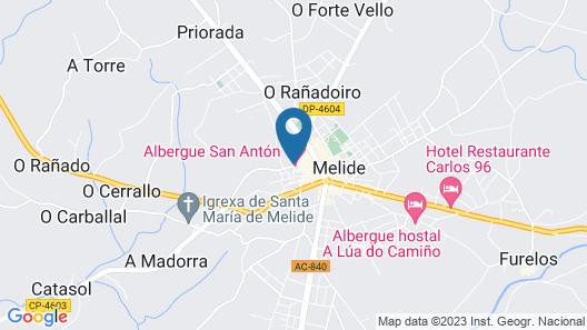 Albergue San Antón Map