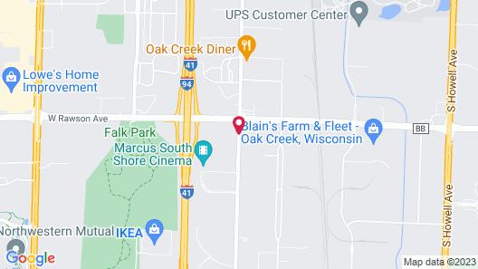 La Quinta Inn by Wyndham Milwaukee Airport / Oak Creek Map