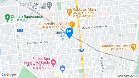 Hotel Nikko Northland Obihiro Map