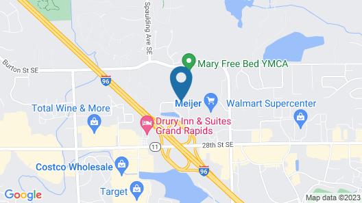 Holiday Inn Express Grand Rapids Airport North, an IHG Hotel Map