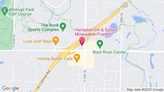 Hampton Inn & Suites Milwaukee/Franklin Map