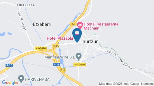 Hotel Plazaola Map