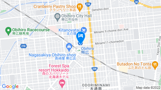 Richmond Hotel Obihiro Ekimae Map