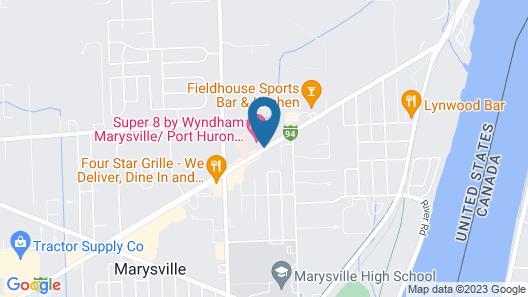 Super 8 by Wyndham Marysville/Port Huron Area Map