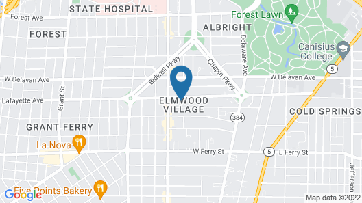 InnBuffalo off Elmwood Map