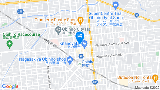 Dormy Inn Obihiro Natural Hot Spring Map