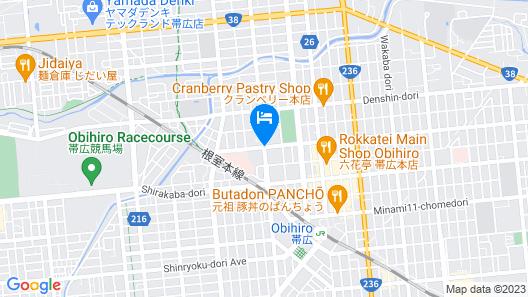 Hotel Paco Obihiro Chuo Map