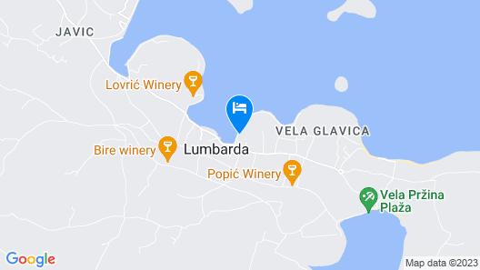 Hotel Lumbarda Map