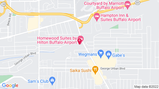 Homewood Suites by Hilton Buffalo Airport Map
