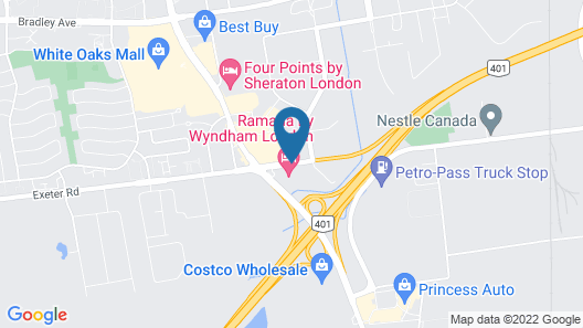 Hampton Inn by Hilton London Map