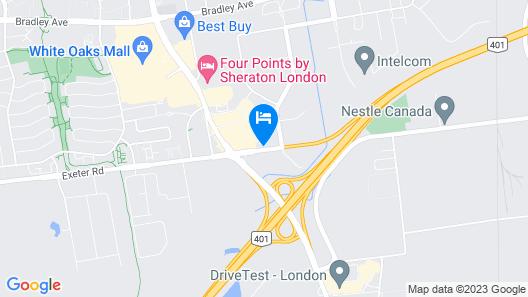Motel 6 London, ON - Ontario Map