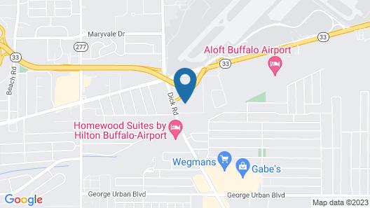 Townhouse Buffalo International Airport Map