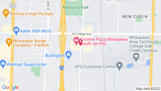 Candlewood Suites Milwaukee Airport Map