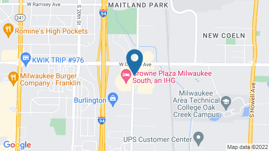 Comfort Suites Milwaukee Airport Map