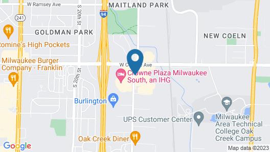 Red Roof Inn Milwaukee Airport Map