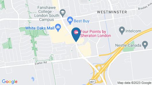 Comfort Inn London - Wellington Road Map