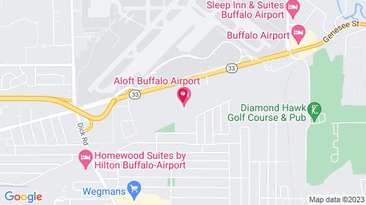 Aloft Buffalo Airport Map