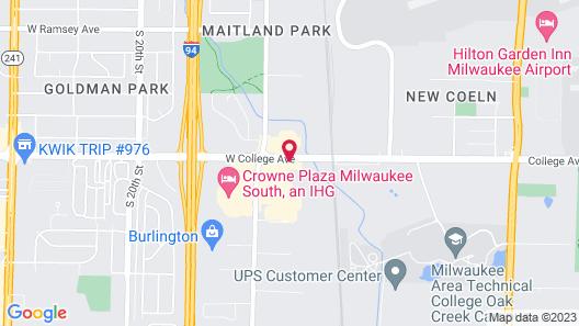 Hawthorn Suites by Wyndham Oak Creek/Milwaukee Airport Map