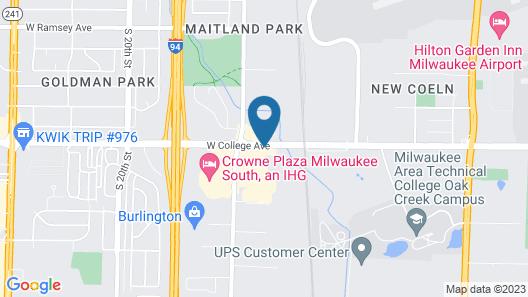 Motel 6 Oak Creek, WI Map