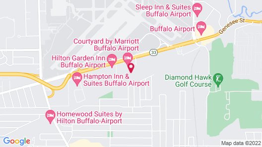 TownePlace Suites Buffalo Airport Map