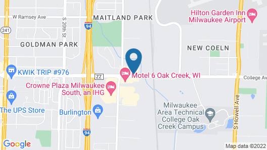 Hampton Inn Milwaukee-Airport Map